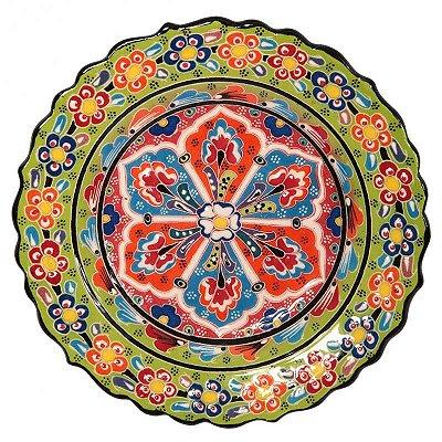 Prato Turco Dantel em Cerâmica 18cm