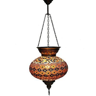 Lustre Turco em Mosaico Colorido 40x33cm