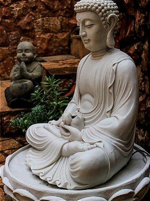 Fonte de Buda Flor de Lótus 70cm