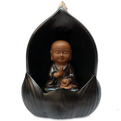 Incensário Cascata Buda Flor de Lótus