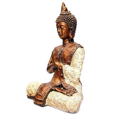 Escultura Buda Tailandês Color Bali
