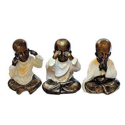 Trio Monges Budistas Da Justiça - Bali