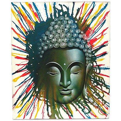 """Pintura em Tela """"Buda Em Cores"""" 120x100cm"""