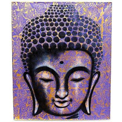 """Tela """"Buda Rendado"""" Pintado a Mão"""