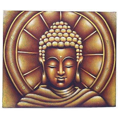 """Tela """"A Aura De Buda"""" Pintado a Mão"""