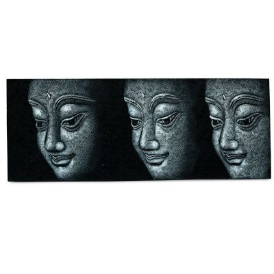 Tela Rendada Faces De Buda 45x120cm