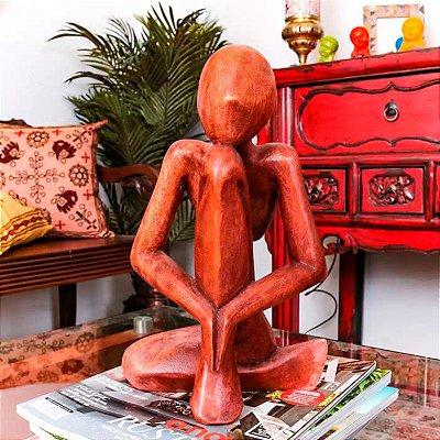 "Escultura Abstrata ""Pensador"" 30cm"
