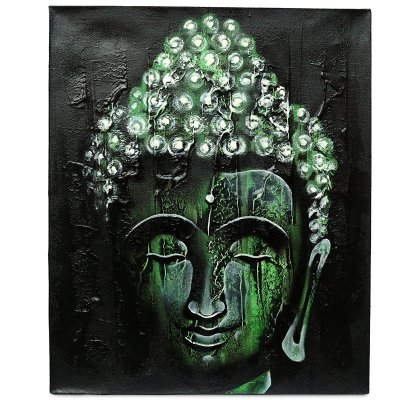 """Tela """"Face de Buda"""" C/ Textura"""