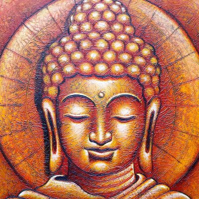 Tela Buda O Iluminado 120x100cm | Bali