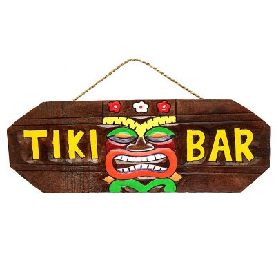 "Placa ""Tiki Bar"" Havaiana"