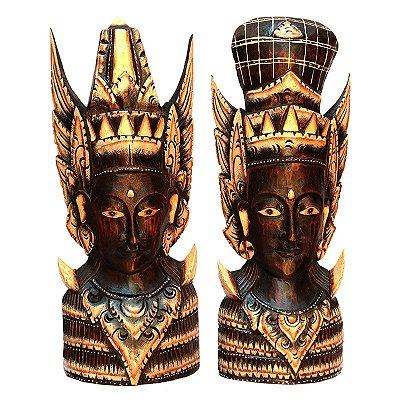 Busto Casal Rama e Sita C/ Base