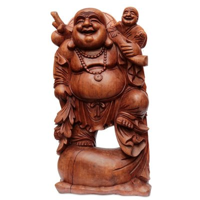 """Escultura Buda """"Protetor das Crianças"""" 80cm"""