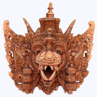 Máscara Garuda Entalhado Na Madeira