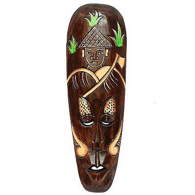 Máscara Decorativa Camponês De Bali