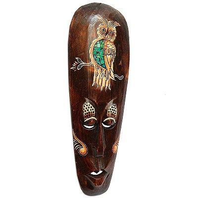 Máscara Decorativa Coruja Mosaico 50cm