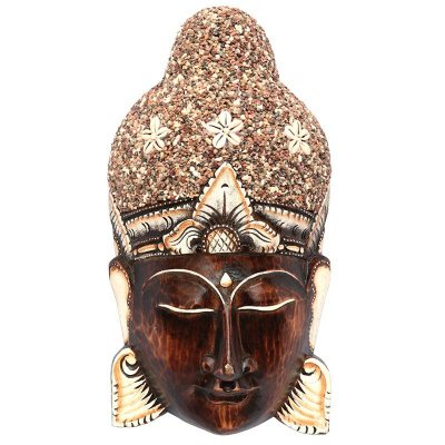 Cabeça De Buda C/ Pedras 50cm