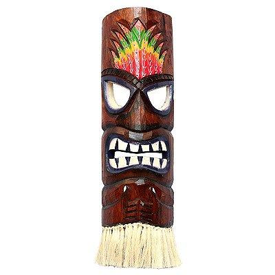 Máscara Totem Hawaiana Hula Color 50cm