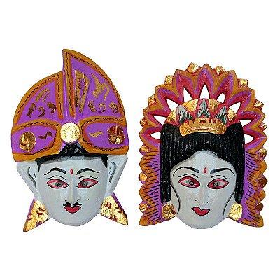 Máscara Casal Balinês Coloridos