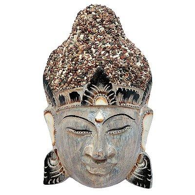Cabeça de Buda C/ Pedras Jateadas