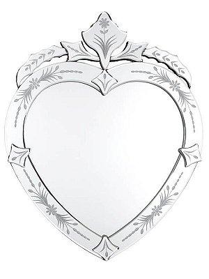 Espelho Veneziano em Formato de Coração p/ Decoração 50x30cm