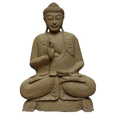 Buda em Cimento p/ Jardim 70cm