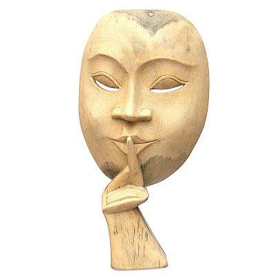"""Máscara Teatral """"O Silêncio"""" Bali"""
