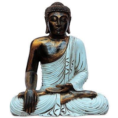 Estátua De Buda Color Pátina
