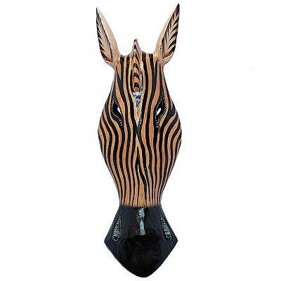 Cabeça De Zebra Listrada 50cm