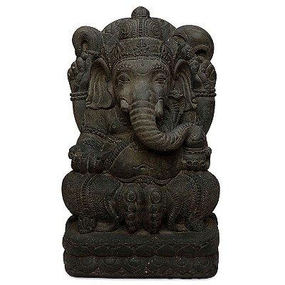 Estátua Ganesh em Pedra 45cm