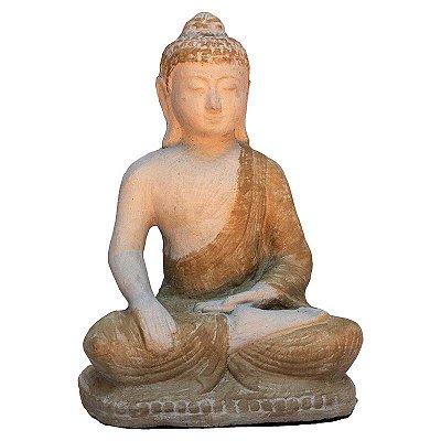 Buda de Cimento Pátina 22cm