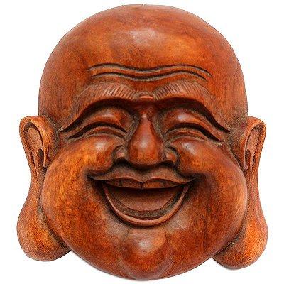 Cabeça Happy Buddha 18cm