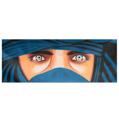 """Tela """"Um Olha Desértico"""" 45x120cm"""