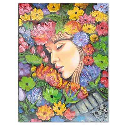 """Tela """"As Flores Do Meu Jardim"""" 60x80cm"""