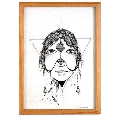 Gravura Emoldurada - Mari Pavanelli