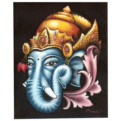 Pintura em Tela Ganesh Bali 25x20cm