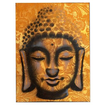 Pintura em Tela Buda 40x30cm