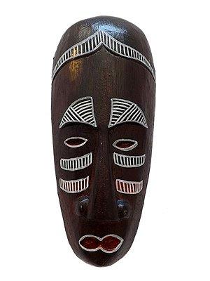 Máscara Africana em Madeira 20cm