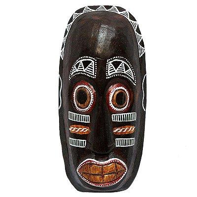 Máscara Decorativa em Madeira 20cm