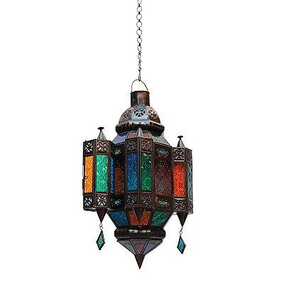 Luminária Pendente Marroquina Color
