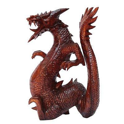 Escultura Dragão Alado 40cm - Bali