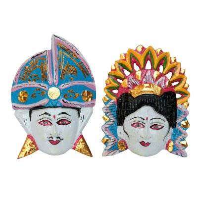 Máscara Casal Hindu Coloridos