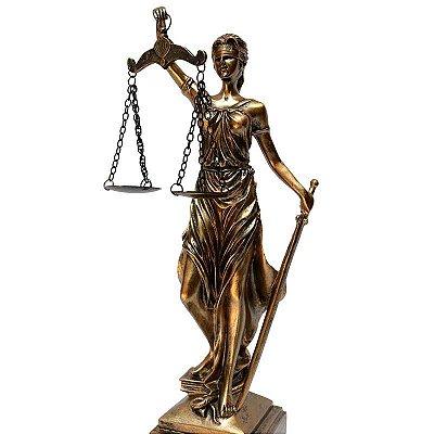 Estátua Deusa Têmis da Justiça 34cm