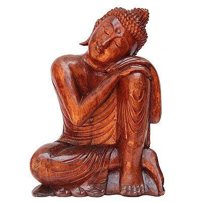 Buda Relax em Madeira Bali 50cm