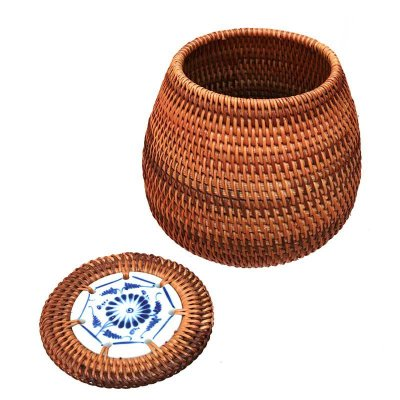 Pote Rattan e Cerâmica - Vietnam