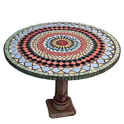 Tampo de Mesa Mosaico Mandala 80cm