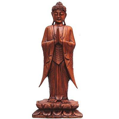 Estátua Buda Gratidão 60cm - Bali
