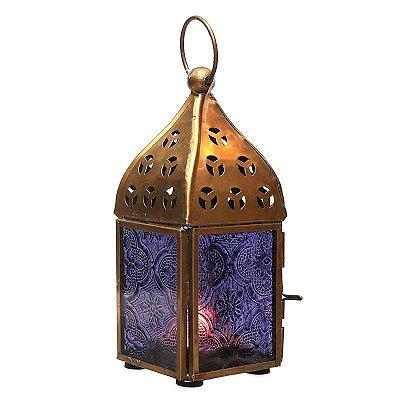 Lanterna Indiana Roxa 15cm