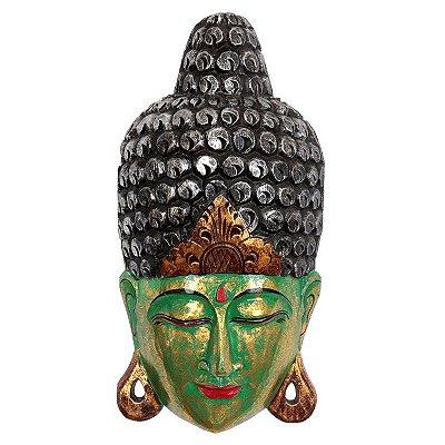 Cabeça de Buda Bali Verde 50cm