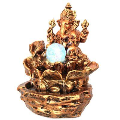 Fonte de Água Ganesh Bronze