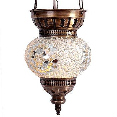 Luminária Turca Mosaico Branco